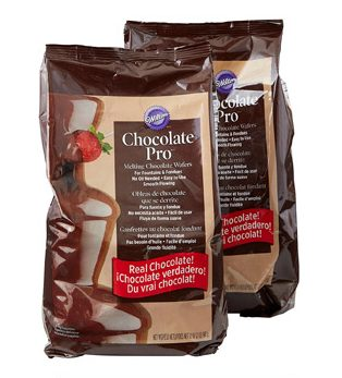 Wilton Chocolate Pro - Melting Chocolate Wafers for Chocolate Fountains or Fondue