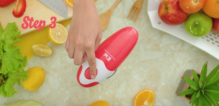 Kitchen Mama Portable Battery Operated Automatic Smooth Edge Can Opener