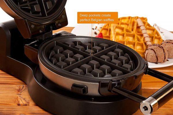 Secura Upgrade Automatic 360 Rotating Belgian Waffle Maker